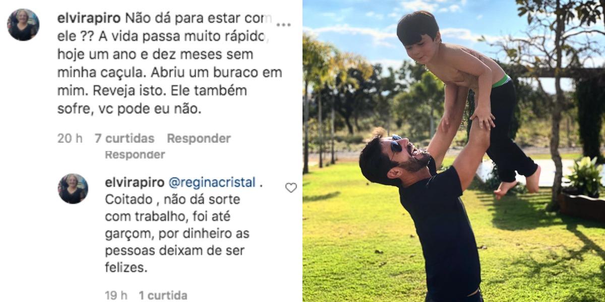 Sandro Pedroso publico registro com o filho, Noah (Foto: Reprodução/Instagram)