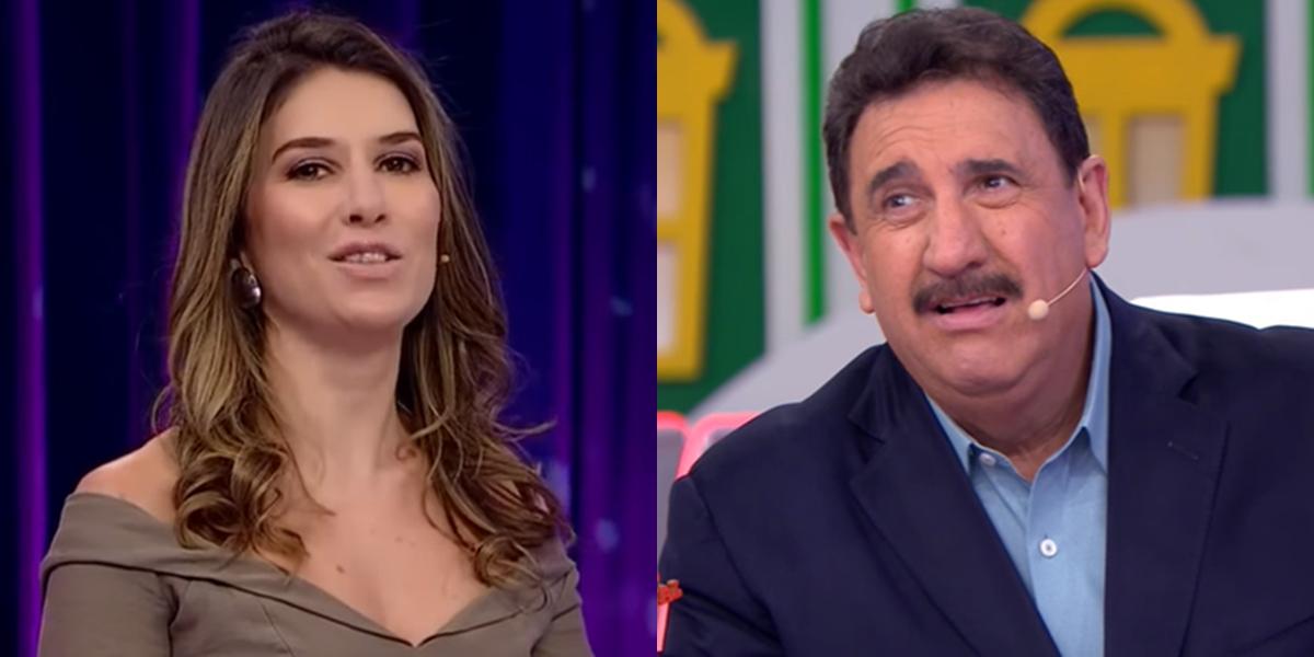 Rebeca Abravanel e Ratinho em seus programas no SBT; atrações registraram queda de audiência (Foto: Reprodução/SBT)