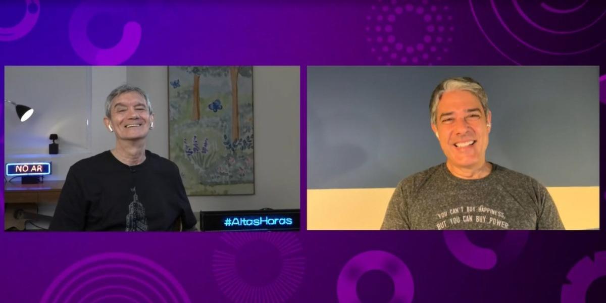 Serginho Groisman entrevistou William Bonner no Altas Horas (Foto: Reprodução/TV Globo)