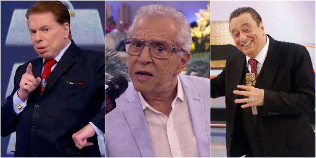 Silvio Santos, Carlos Alberto de Nóbrega e Raul Gil seguem afastados do SBT. (Foto: Montagem/Reprodução)