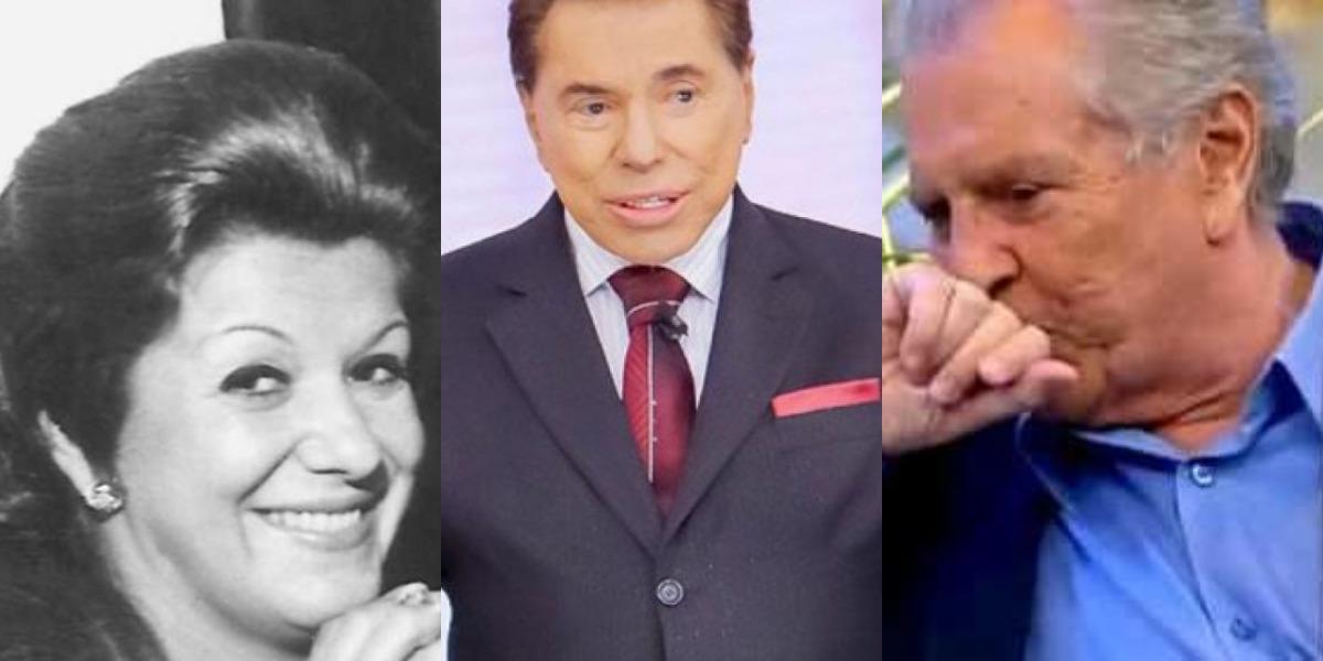 Silvio Santos com sua ex-esposa, Cida Abravanel, e Carlos Alberto de Nóbrega (Foto: Reprodução/SBT)