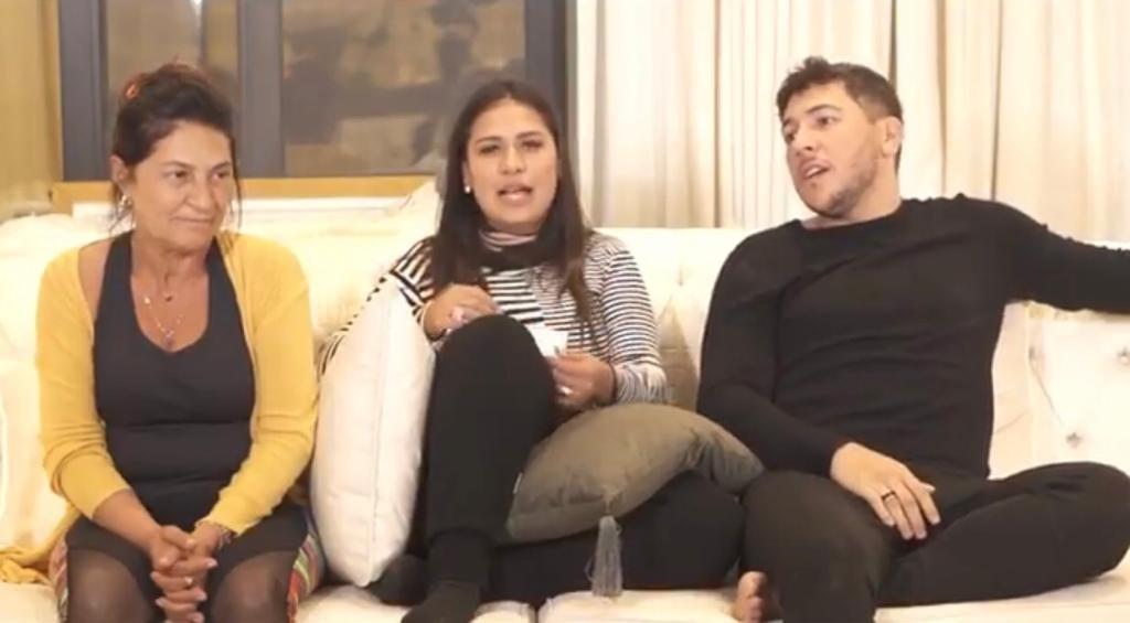 globo Simone, da dupla com Simaria, gravou vídeo com a mãe e o irmão (Reprodução)