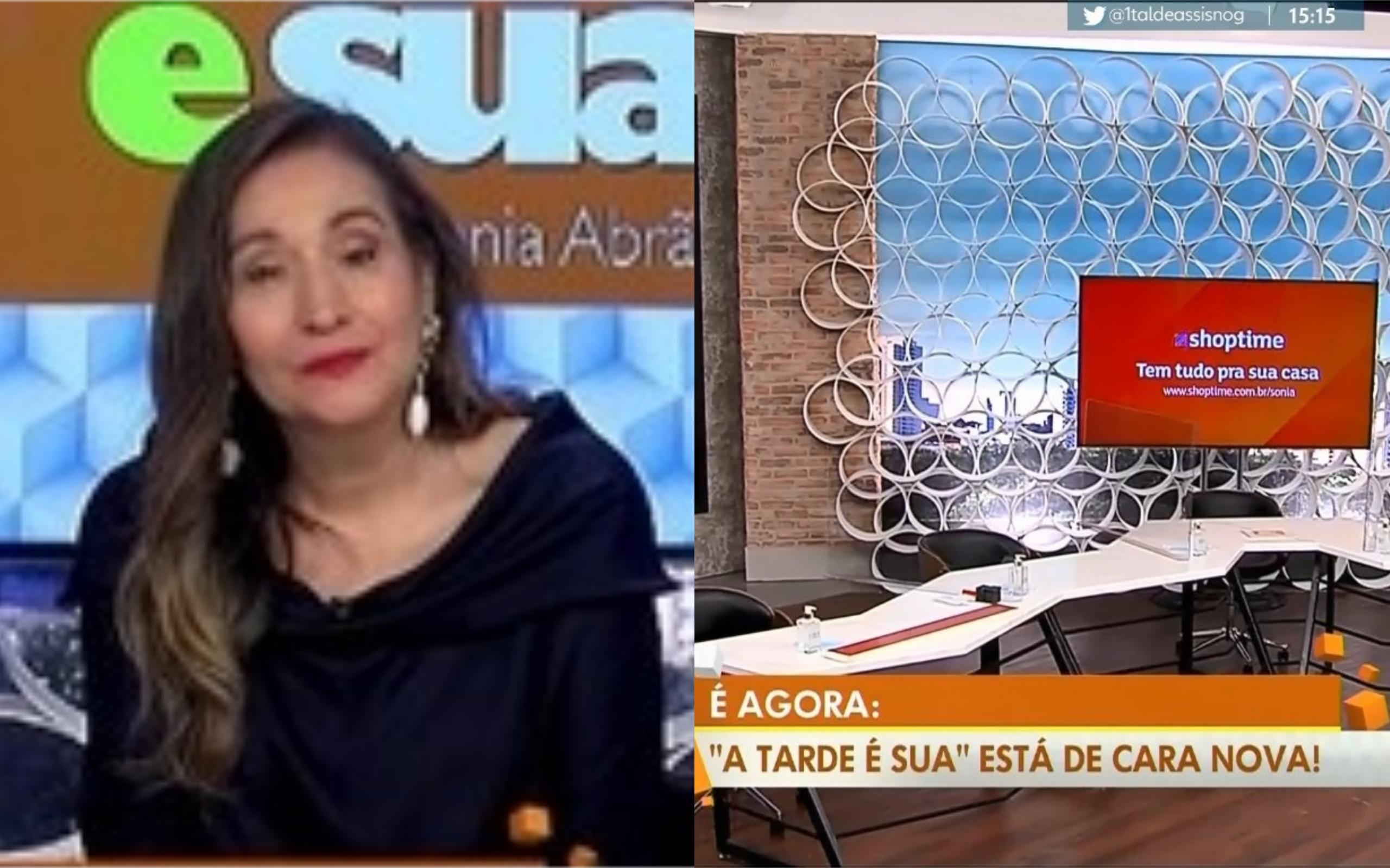 A apresentadora Sonia Abrão ganhou novo cenário na RedeTV! (Foto: Divulgação)