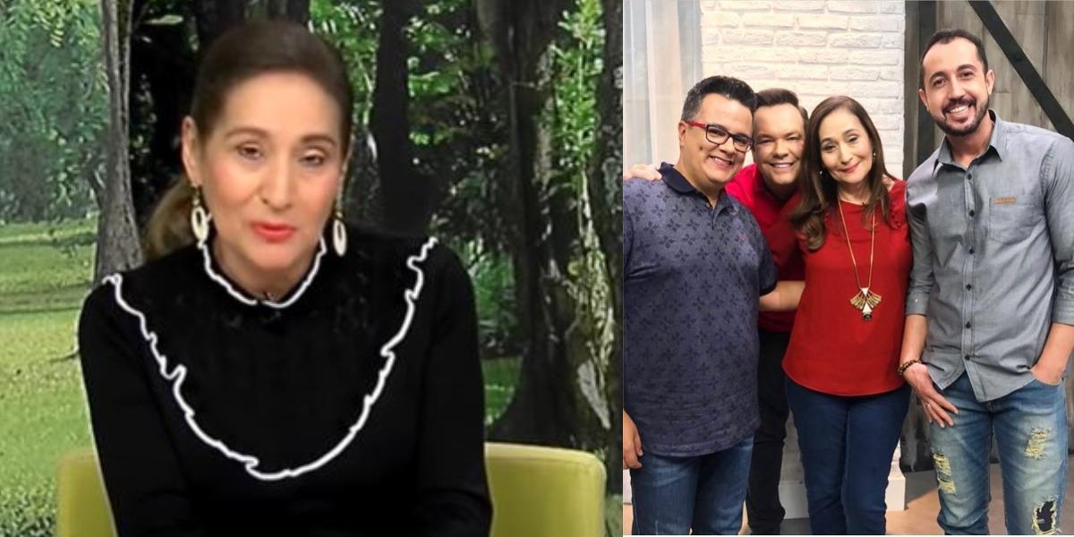Sonia Abrão e Felipeh Campos com seus colegas de profissão (Foto: Reprodução/RedeTV!/Instagram)
