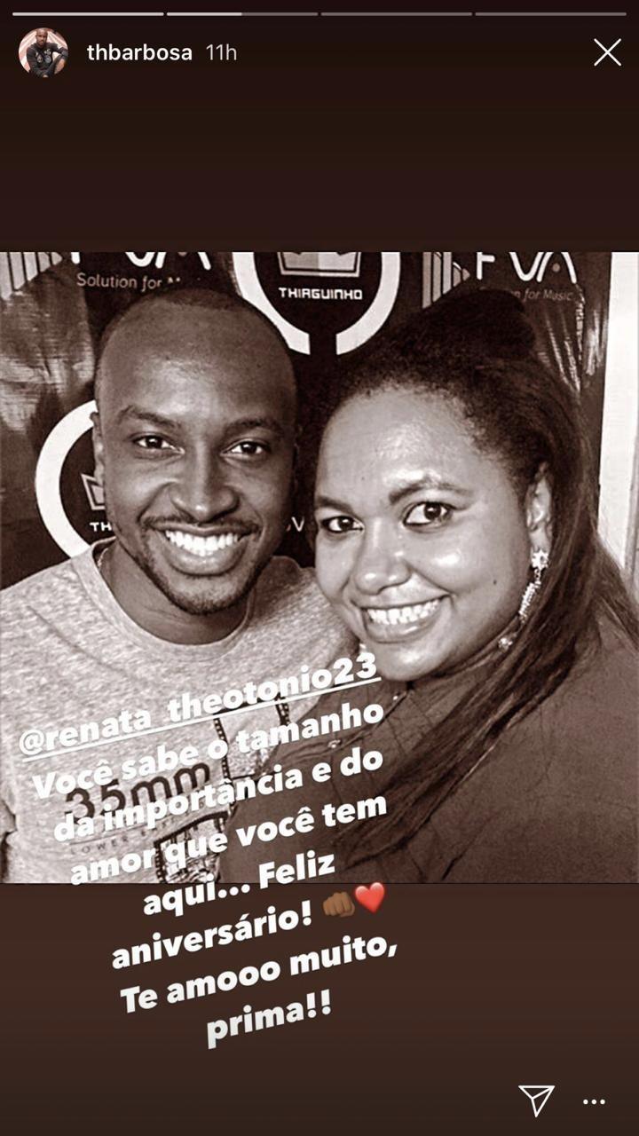 Thiaguinho rasgou o verbo para uma prima (Foto: reprodução/Instagram)