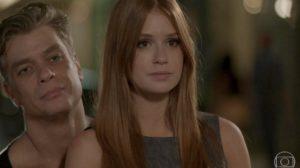 Fábio Assunção (Arthur) e Marina Ruy Barbosa (Eliza) em cena de Totalmente Demais; reprise bombou em audiência em todo o país (Foto: Reprodução/Globo)