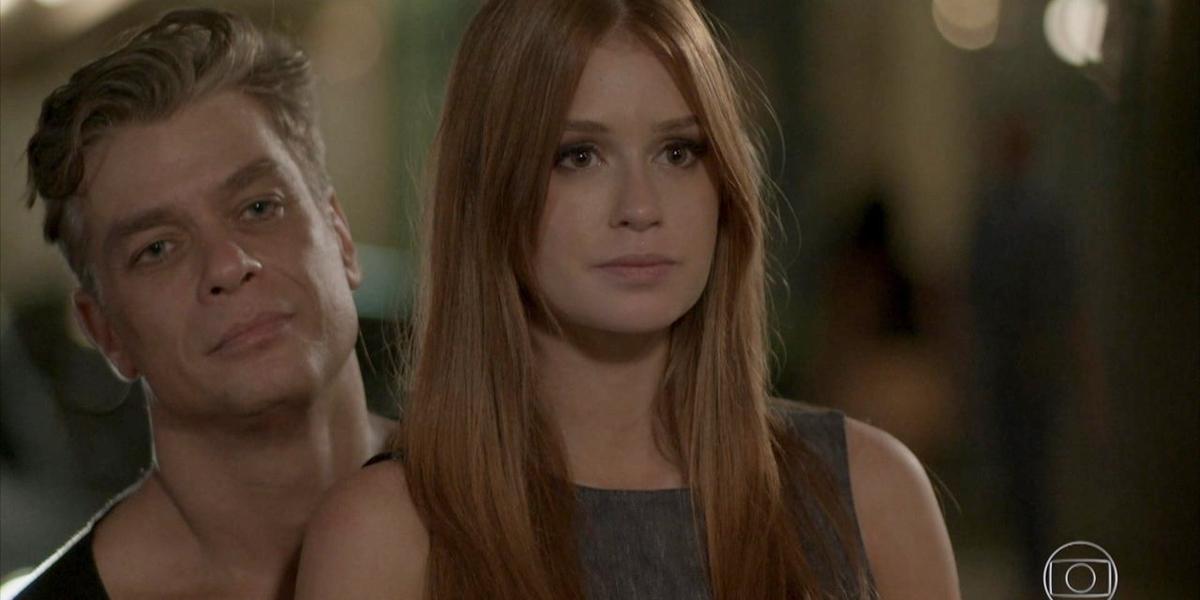 Fábio Assunção (Arthur) e Marina Ruy Barbosa (Eliza) em cena de Totalmente Demais; reprise teve maior audiência desde reestreia (Foto: Reprodução/Globo)