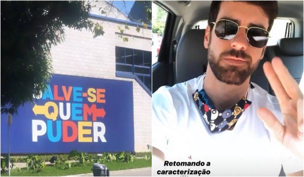 Marcos Pitombo apareceu nos Estúdios Globo. (Foto: Montagem/Reprodução)