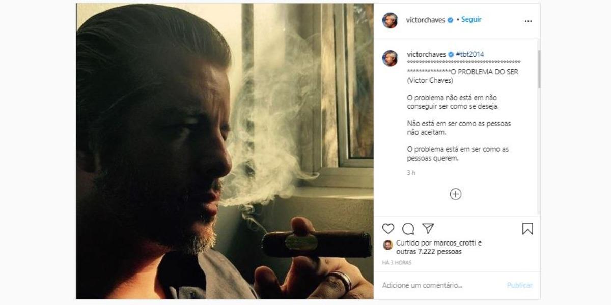 Victor Chaves fez desabafo nas redes sociais (Foto: Reprodução/Instagram)