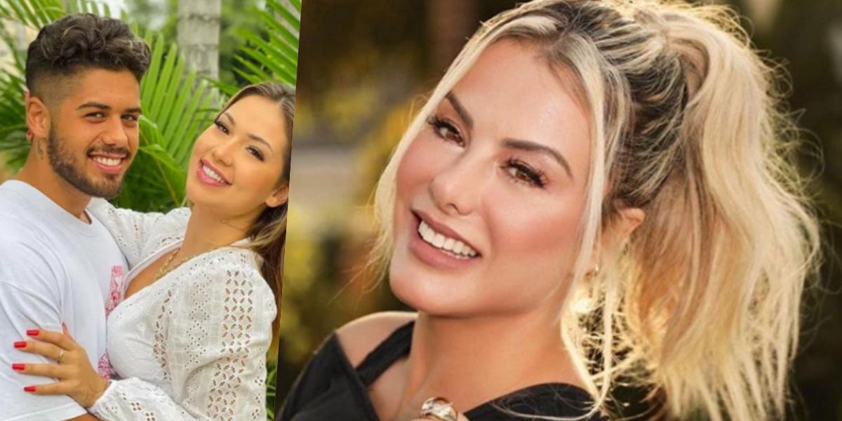 Poliana Rocha, esposa do cantor Leonardo, ficou bastante próxima da namorada de Zé Felipe (Foto: Montagem)
