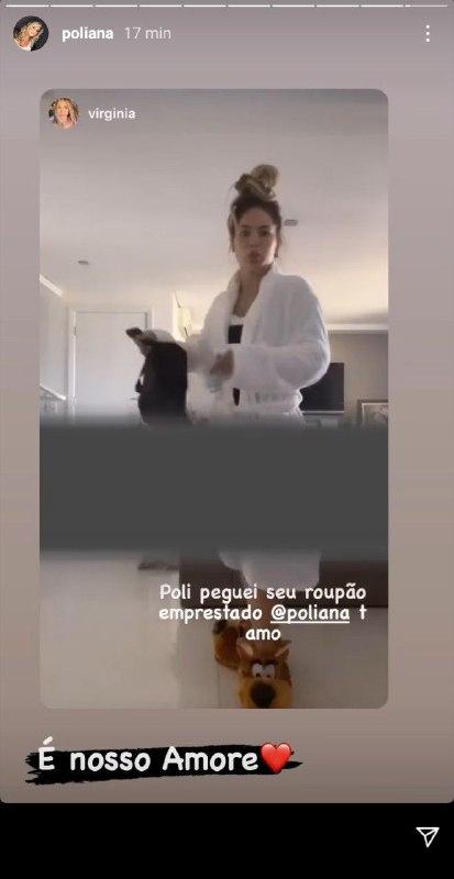 Namorada de Zé Felipe surgiu usando o roupão de Poliana Rocha (Foto: Reprodução/ Instagram)