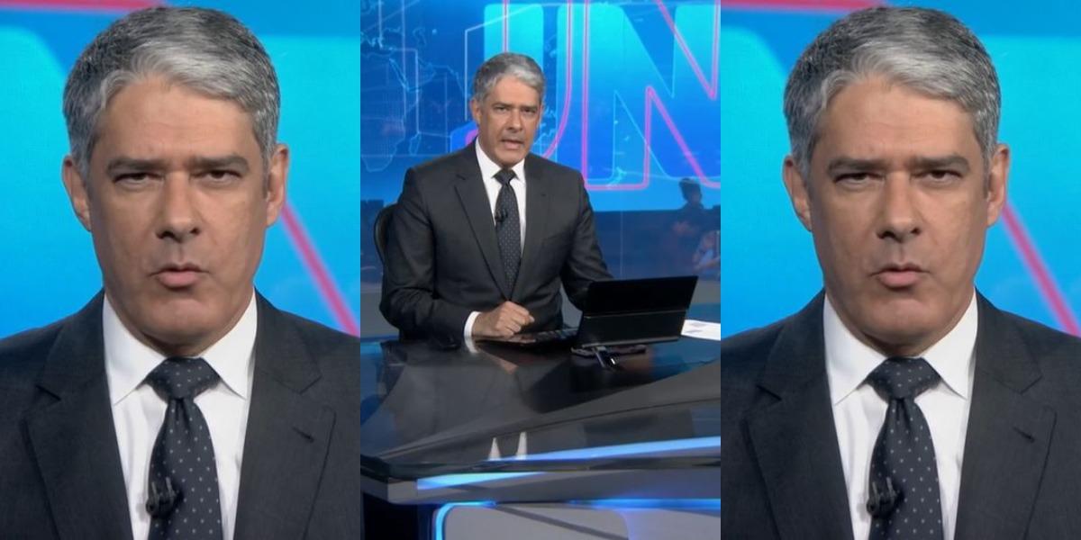 William Bonner no Jornal Nacional de ontem (Foto: Reprodução/TV Globo)