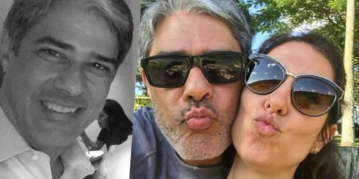 William Bonner é casado com Natasha Dantas (Foto: montagem)