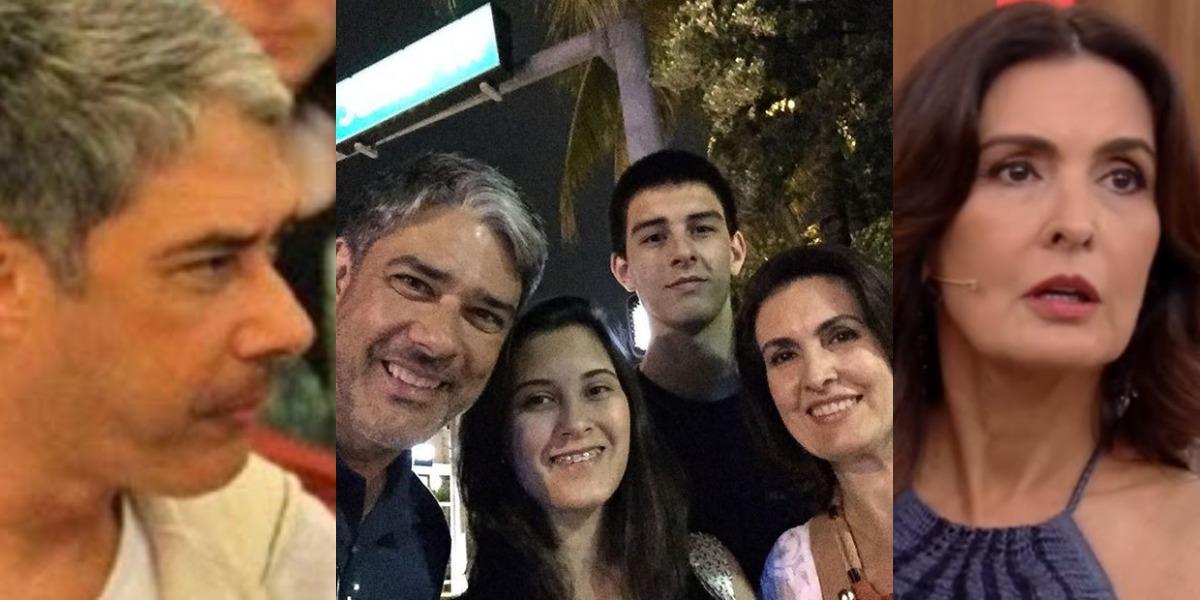 William Bonner e Fátima Bernardes com os filhos (Foto: AgNews/Instagram/TV Globo)