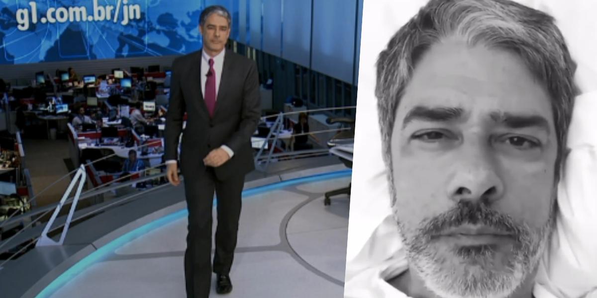 William Bonner comanda o 'Jornal Nacional' (Foto: montagem)