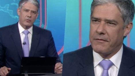 William Bonner e o Jornal Nacional perderam a liderança (foto: Reprodução/TV Globo)