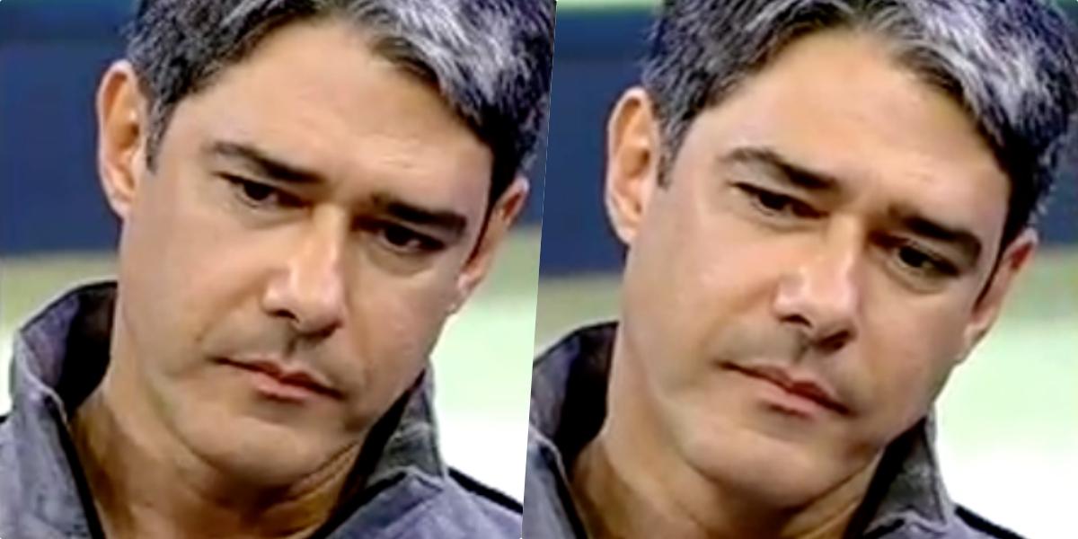 William Bonner, âncora do Jornal Nacional da Globo, vem sofrendo com uma forte corrente de ódio (Foto montagem)