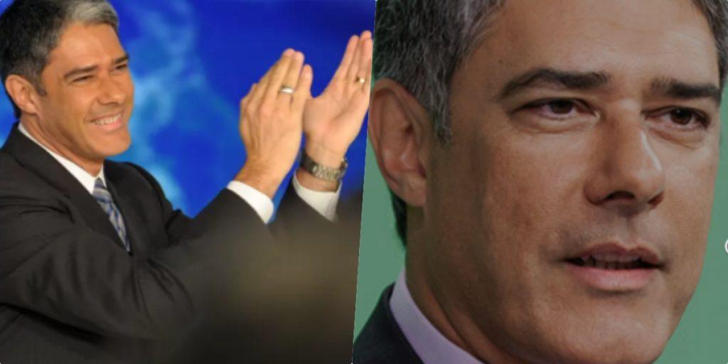 William Bonner, que comanda o Jornal Nacional na Globo, virou alvo de uma corrente de ódio e agora a emissora estaria preocupada com ele (Foto montagem)