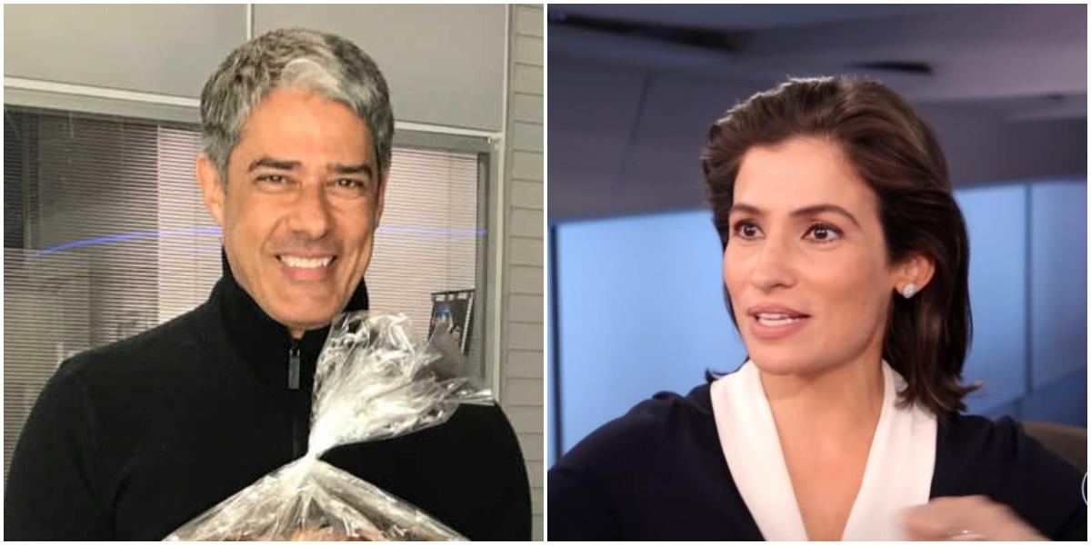 Os apresentadores da Globo, William Bonner e Renata Vasconcellos (Reprodução)