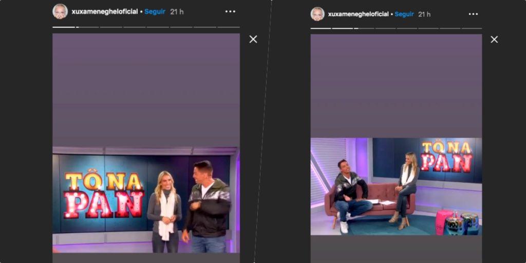 Xuxa apoia Leo Dias em divulgação de programa (Foto montagem)