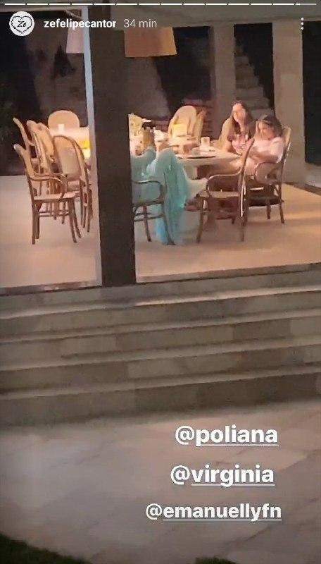 Zé Felipe flagrou conversa de Poliana Rocha com sua namorada, Virgínia (Foto: Reprodução/ Instagram)