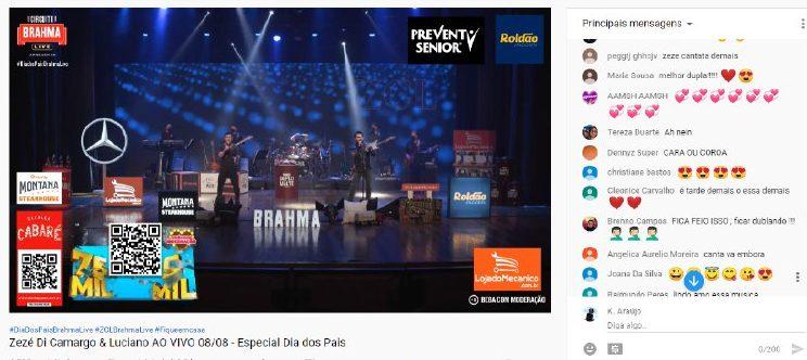 Zezé Di Camargo e Luciano enfrentaram problemas durante a live (Foto: Reprodução)
