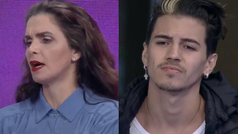 A Fazenda Luiza criticou Biel ao vivo no reality show da Record TV apresentado por Marcos Mion (Foto: Reprodução)