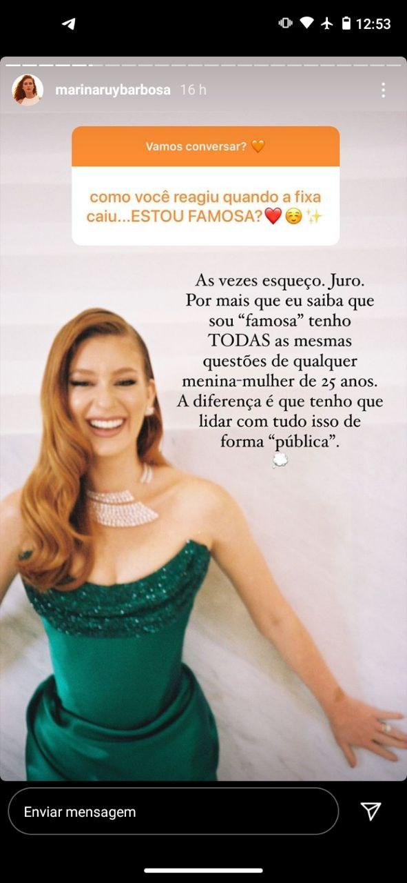 Marina Ruy Barbosa falou da fama (Foto: Reprodução/ Instagram)