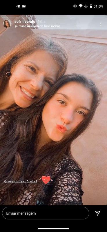 Rose Miriam com Sofia, sua filha (Foto: Reprodução/ Instagram)