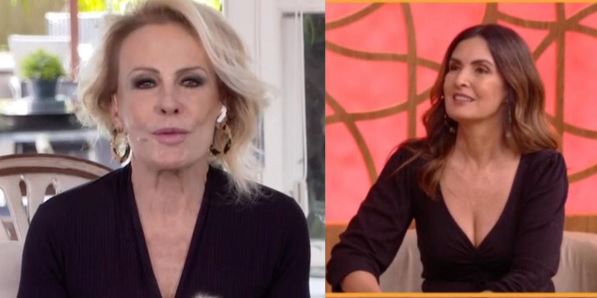 """Ana Maria Braga e Fátima Bernardes no """"Encontro"""" (Foto: Reprodução/TV Globo)"""