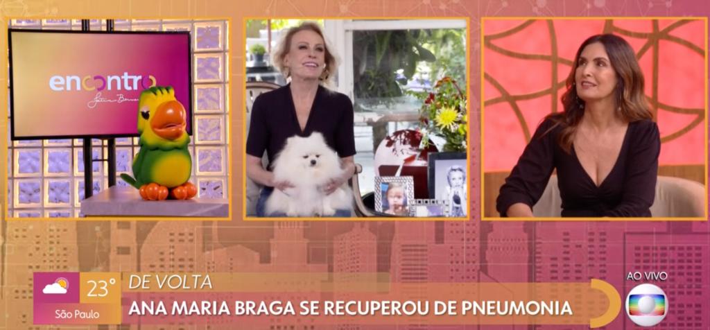 Ana Maria Braga com Fátima no Encontro (Foto: Reprodução/ Globoplay)