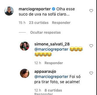 Ana Paula em comentário no Instagram (Foto: Reprodução)