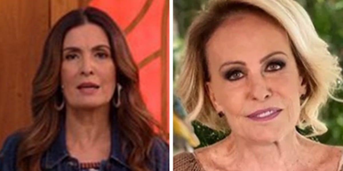 Fátima Bernardes anunciou cura de Ana Maria Braga contra pneumonia (Foto: Montagem/TV Foco)
