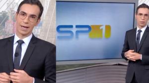 César Tralli comanda o jornal SPTV na Globo (Foto: Montagem)