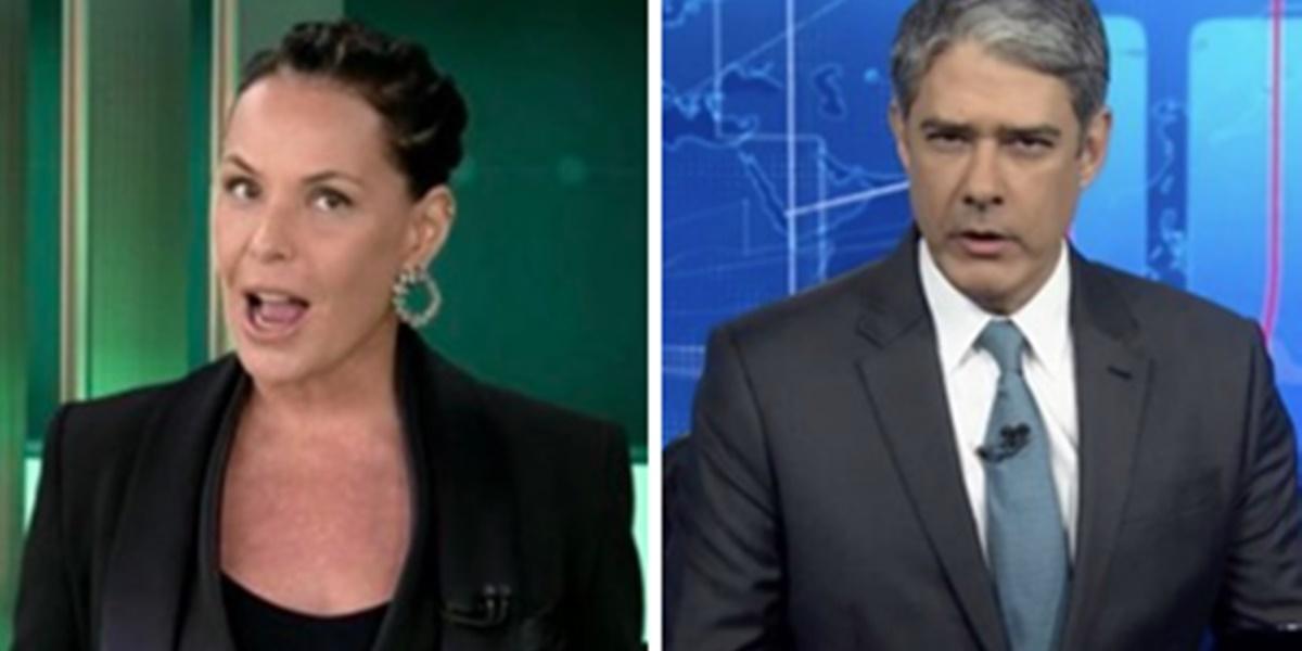 Carolina Ferraz fez ataque contra a Globo e William Bonner no Domingo Espetacular (Foto: Montagem/TV Foco)