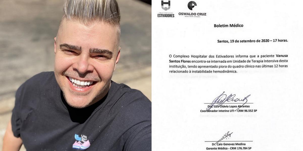 Filho de Vanusa publica boletim médico indicando estado de saúde da cantora (Foto: Reprodução/Instagram)