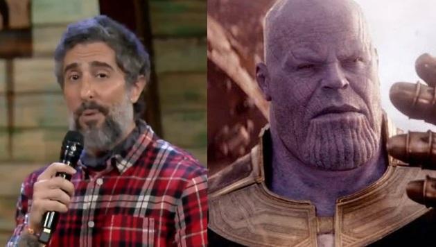 Marcos Mion citou Thanos em A Fazenda (Foto: Reprodução)