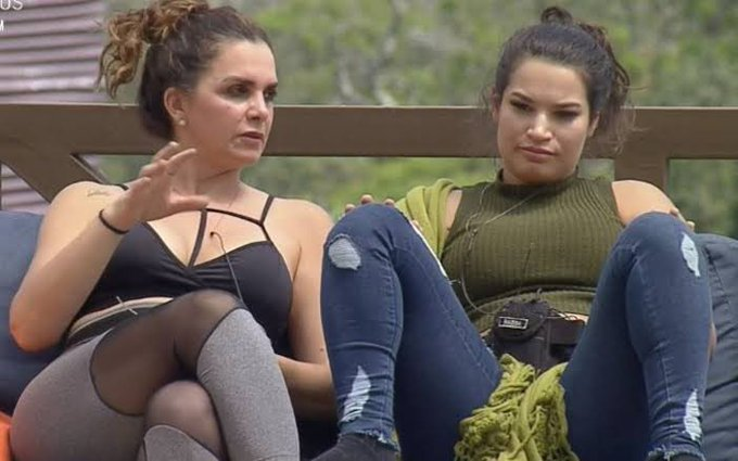 Luiza Ambiel e Raissa fecharam acordo para mandar Biel para a roça (Foto: Reprodução) A Fazenda