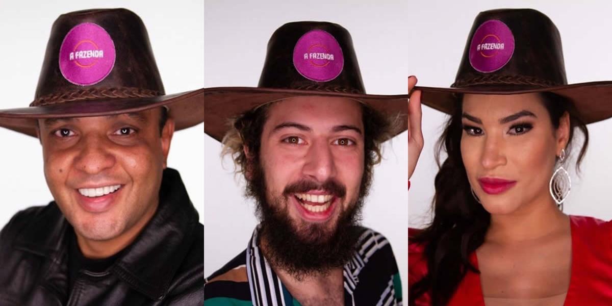 Fernandinho, Cartolouco e Raissa estão na Roça (Foto: Montagem)