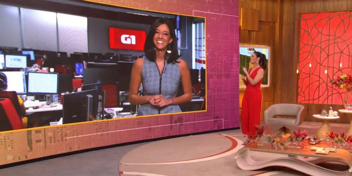"""Fátima Bernardes e a sobrinha de William Bonner se divertiram no """"Encontro"""" de ontem (Foto: Reprodução/TV Globo)"""