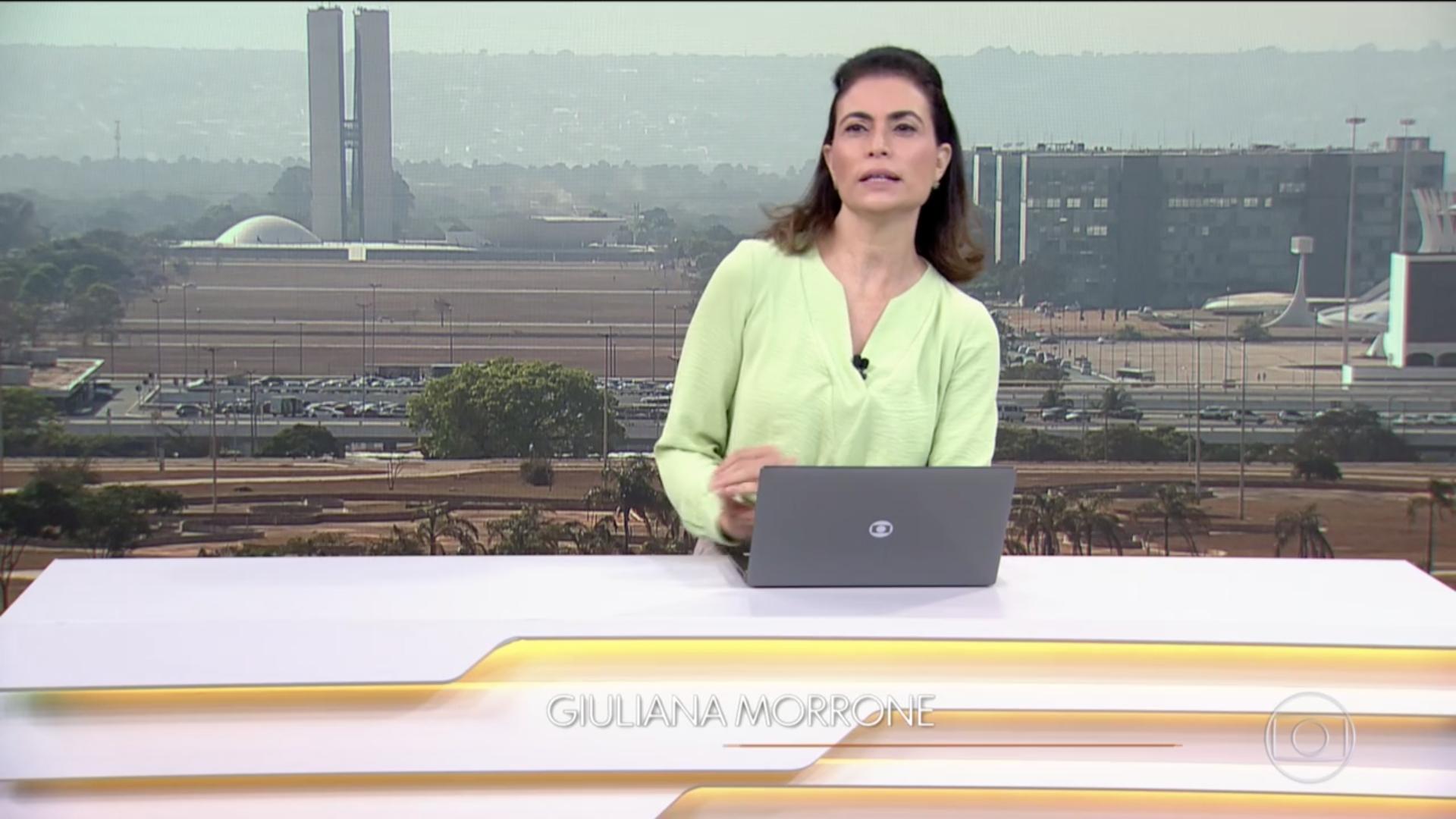 Giuliana Morrone no Bom Dia Brasil (Foto: Reprodução)