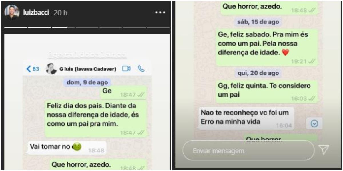 Geraldo Luís e Luiz Bacci protagonizam mensagens icônicas nas redes (Foto: Instagram)