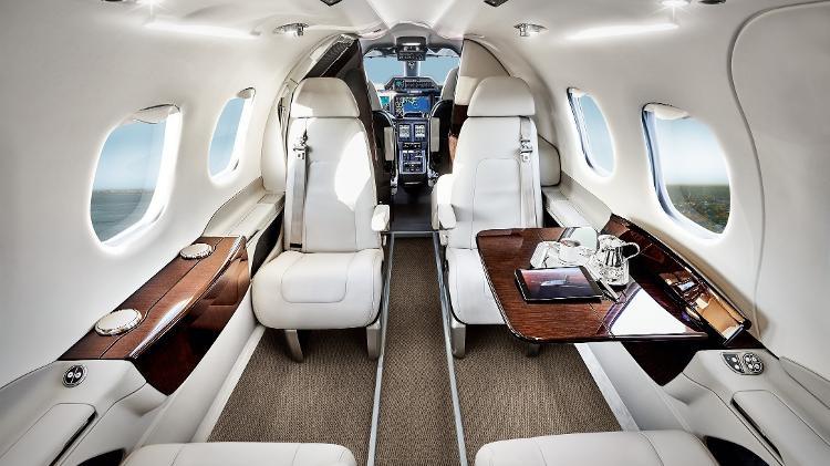 Interior da aeronave que pode ser adquirida por Bacci (Foto: Reprodução)