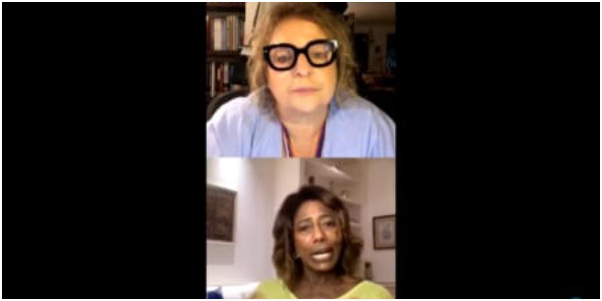 Joyce Pascowitch entrevistou Glória Maria (Foto: Reprodução/Instagram)