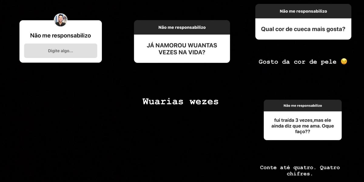 Luiz Bacci responde seus seguidores no Instagram (Foto: Montagem)