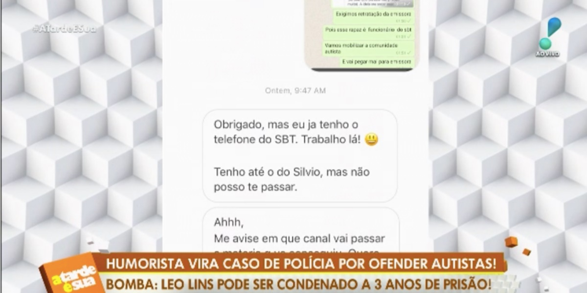 Polêmica foi pauta do programa A Tarde é Sua (Imagem: Reprodução)