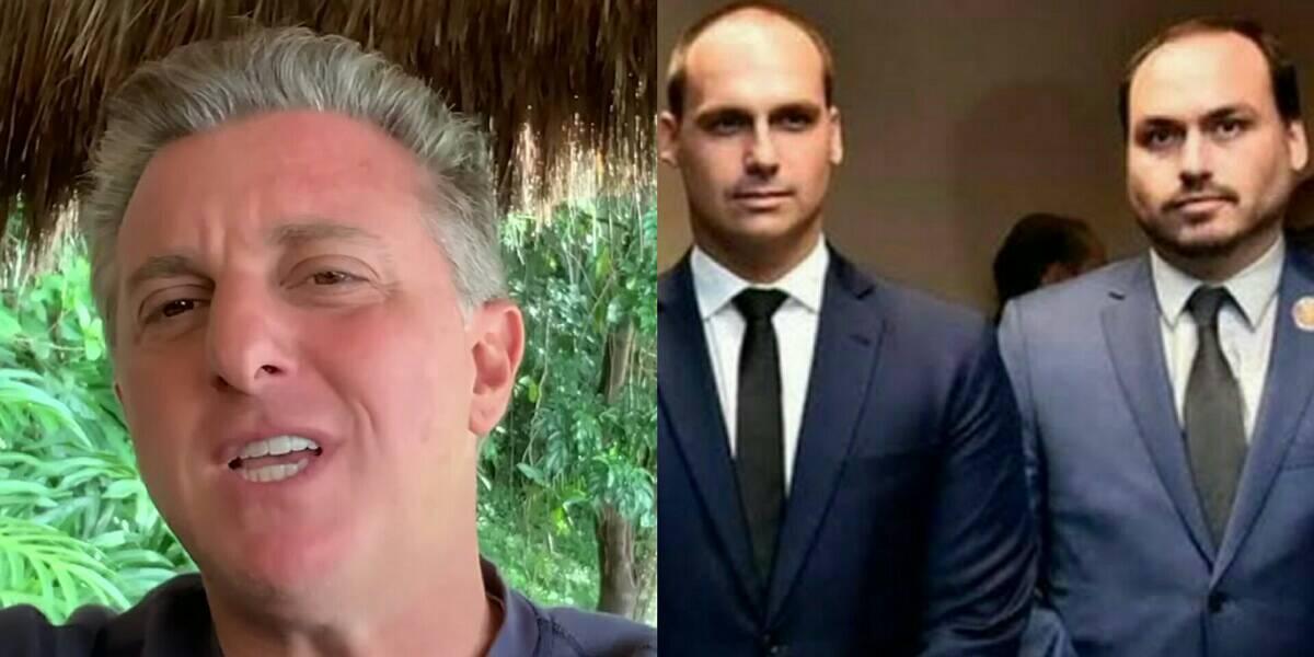 Luciano Huck é criticado por Eduardo e Carlos Bolsonaro após promover festa de aniversário e quebrar isolamento (Foto: Reprodução)