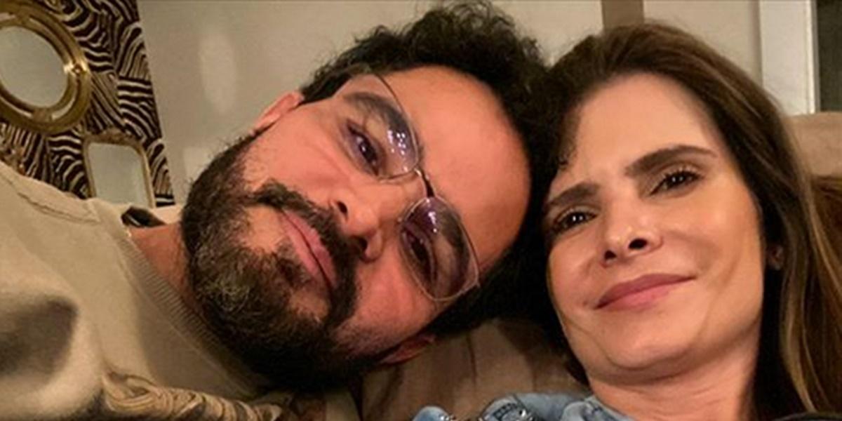 Luciano Camargo ao lado da esposa Flávia Camargo (Foto: Reprodução)
