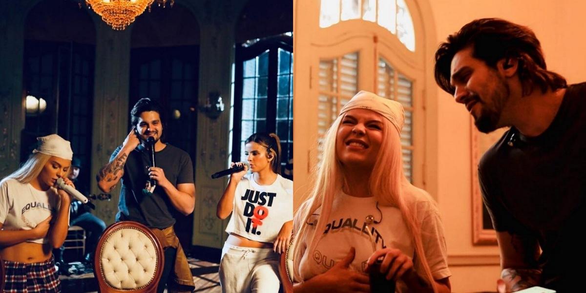 Em live, Luísa Sonza ganha apoio de Luan Santana (Foto: Reprodução/Instagram)