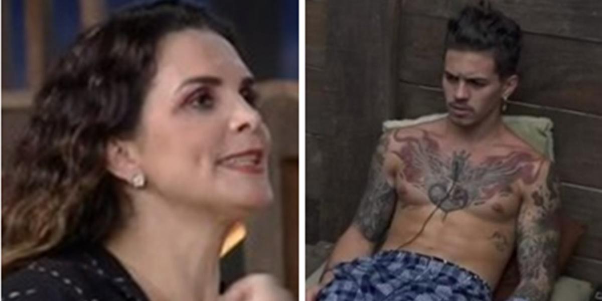 Luiza e Biel brigaram ao vivo em A Fazenda 12 (Foto: Montagem)